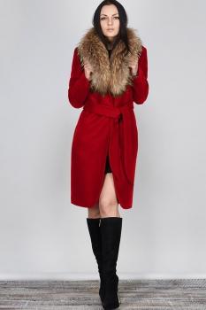 Пальто Erika Style 477-3 красный