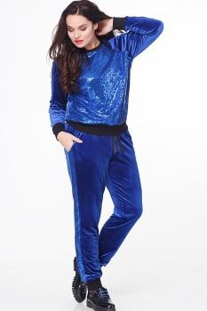 Спортивный костюм Erika Style 521-4 василек