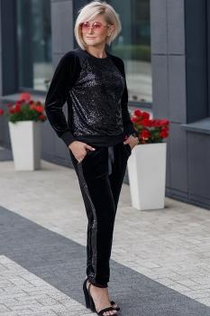 Спортивный костюм Erika Style 521 черный