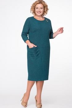 Платье Erika Style 523-3 бирюза