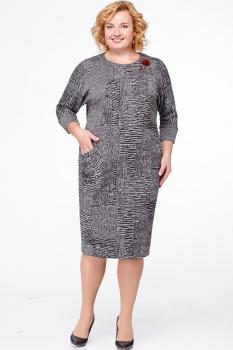 Платье Erika Style 523-8 серый
