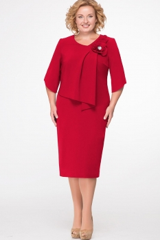 Платье Erika Style 526-2 красный