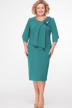 Платье Erika Style 526-4 зеленый