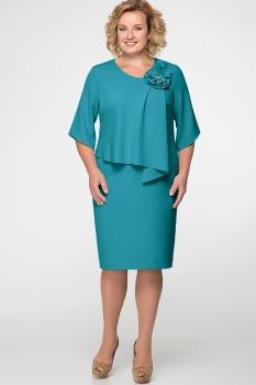 Платье Erika Style 526-8 бирюзово-зеленый