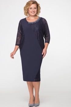 Платье Erika Style 528 синий