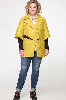 Пальто Erika Style 530 горчично-желтый