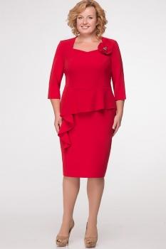 Платье Erika Style 531-1 красный