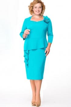 Платье Erika Style 531-3 бирюза