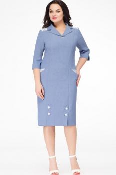 Платье Erika Style 537-1 голубой