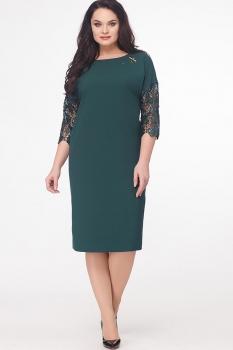 Платье Erika Style 539-2 изумруд