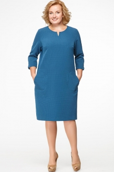 Платье Erika Style 547 морская волна