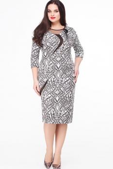 Платье Erika Style 548-4 черно белое