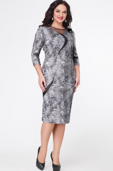 Платье Erika Style 548 серый