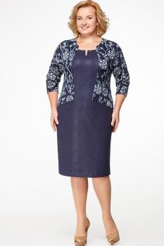 Платье Erika Style 549 синий