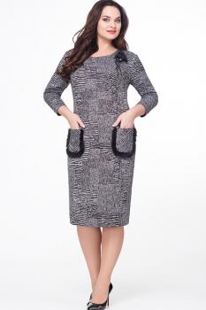 Платье Erika Style 551-1 серый