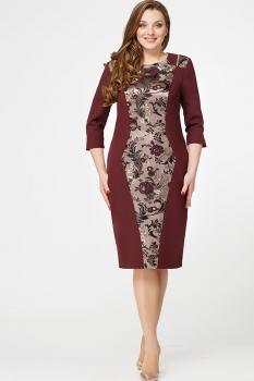 Платье Erika Style 554 бордо+золото