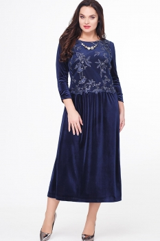 Платье Erika Style 558-1 синий