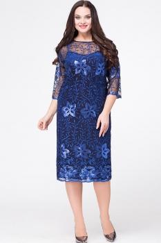 Платье Erika Style 561-1 василек