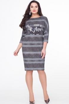Платье Erika Style 569 серый