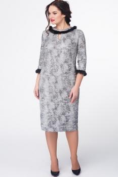 Платье Erika Style 571 серый