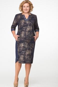 Платье Erika Style 574 синий