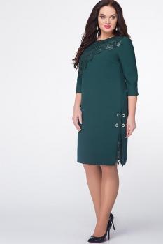 Платье Erika Style 576 темно-зеленый