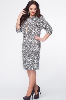 Платье Erika Style 578 черный+белый