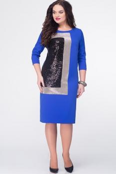Платье Erika Style 579 василек