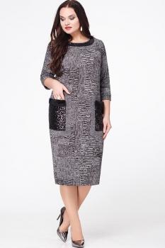 Платье Erika Style 583 серый