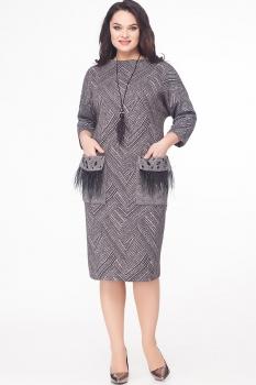 Платье Erika Style 586 серый