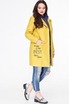 Пальто Erika Style 587-3 желтый