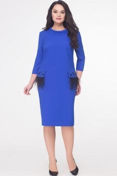 Платье Erika Style 595 василек