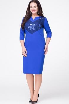 Платье Erika Style 596 василек