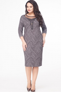 Платье Erika Style 598 серый