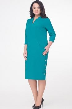 Платье Erika Style 601 зеленый