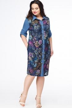 Платье Erika Style 603-1 василек