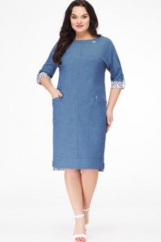 Платье Erika Style 604-1 джинсовый