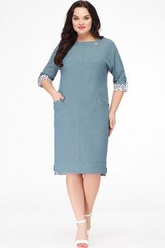 Платье Erika Style 604 серо-зеленый