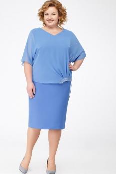 Платье Erika Style 621 голубой