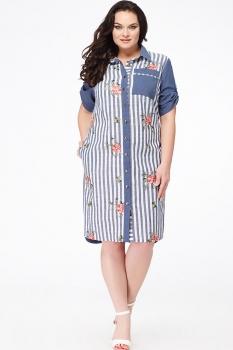 Платье Erika Style 623-1 синий