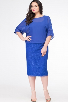 Платье Erika Style 625 василек