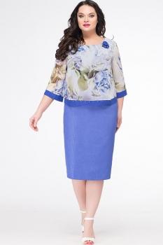 Платье Erika Style 626 василек