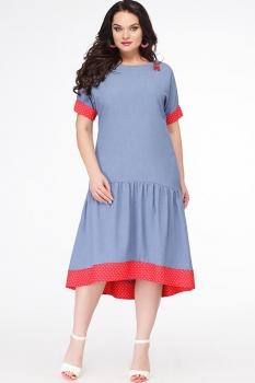 Платье Erika Style 627 голубой