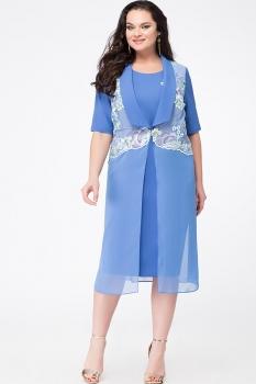 Платье Erika Style 629 василек светлый