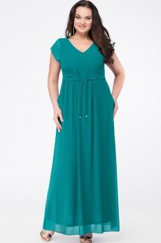 Платье Erika Style 631-1 изумрудный