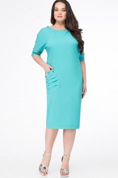 Платье Erika Style 633-2 бирюза