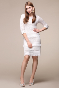 Платье My Fashion House By Elma 2583А белый