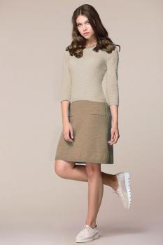 Платье My Fashion House By Elma 2601 бежевый
