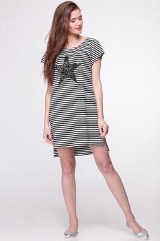 Платье Faufilure 292С-2 черно-белый