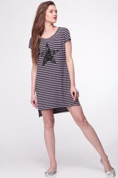 Платье Faufilure 292С-3 черно-серый